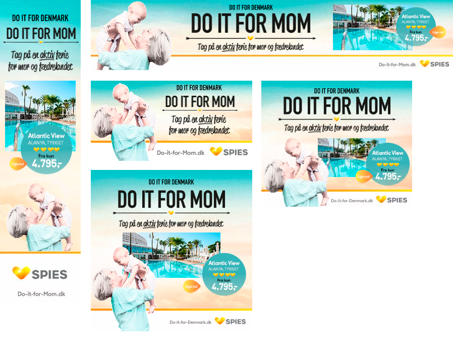 Spies Webannere - Do it for mom kampagne